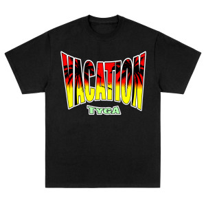 Vacation Black Tee