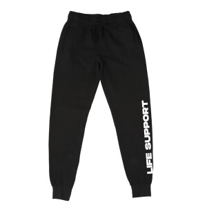 Life Support Logo Black Sweatpants