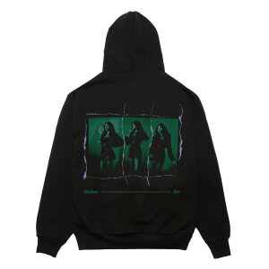 Life Support Green Album Black Hoodie
