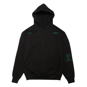 Life Support Green Album Black Hoodie