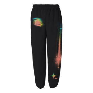 Black Rainbow Sweatpants