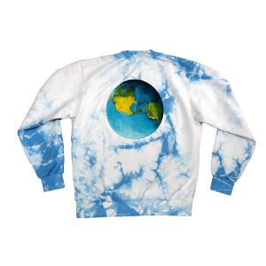 Blue Tie-Dye Sweatshirt