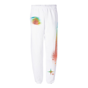 White Rainbow Sweatpants