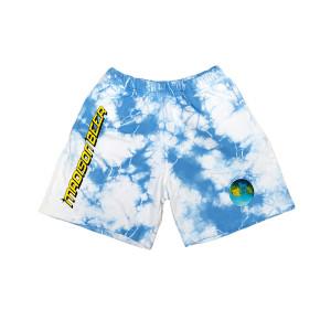 Blue Tie-Dye Shorts