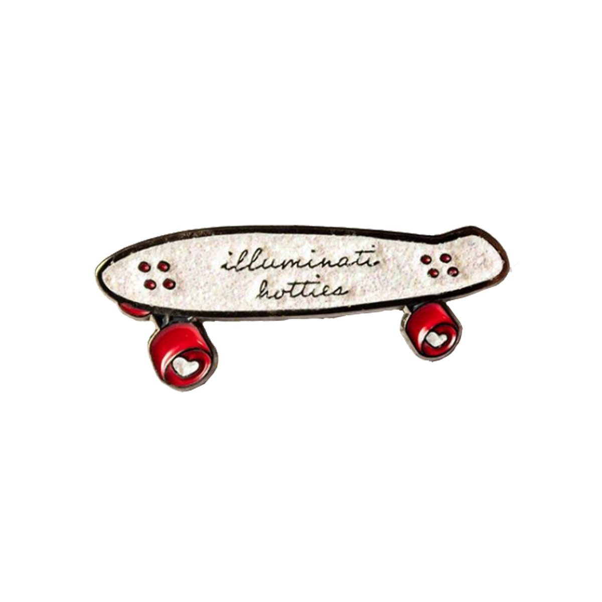Illuminati Hotties Skateboard Enamel Pin