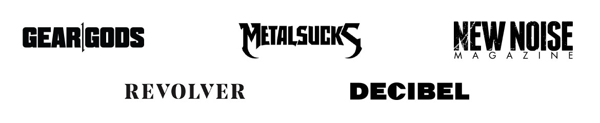 Our Partners: Gear Gods, MetalSucks, New Noise Magazine, Revolver, and Decibel