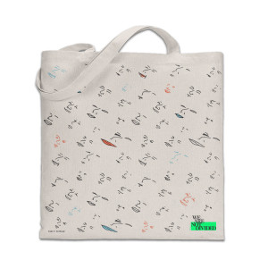 Face River Flow Tote Bag