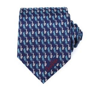 Blue Charlie Parker Bird Tie