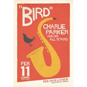 Charlie Parker Live at the Bee Hive Chicago Print