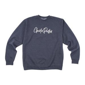 Charlie Parker Crewneck Signature Logo Blue Gray Sweatshirt
