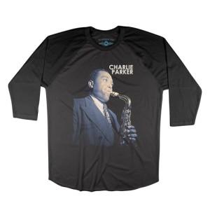 Colorized Charlie Parker Baseball T-Shirt