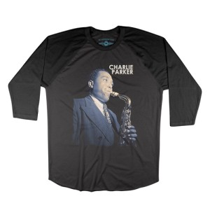 Colorized Charlie Parker Baseball T-Shirt