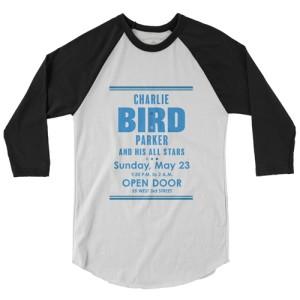 """Charlie """"Bird"""" Parker Concert Baseball T-Shirt"""