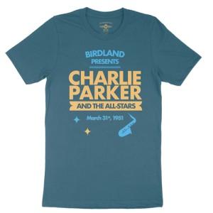 Charlie Parker at Birdland T-Shirt - Lightweight Vintage Style
