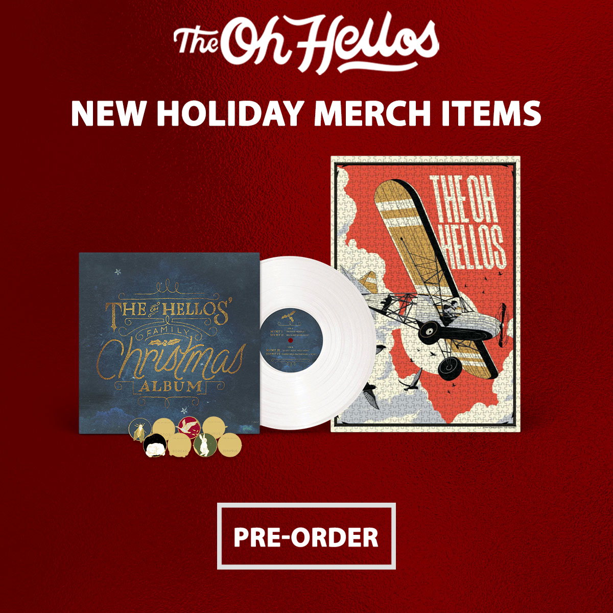 The Oh Hellos - Holiday Products - 20% OFf STorewide. Exclusions Apply. Shop Now