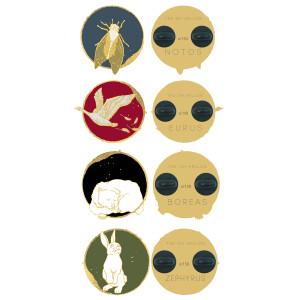 Pin Set - Eurus, Notos, Boreas, Zephyrus