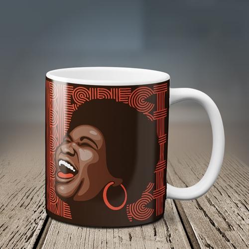 Aretha Franklin Hoops Coffee Mug