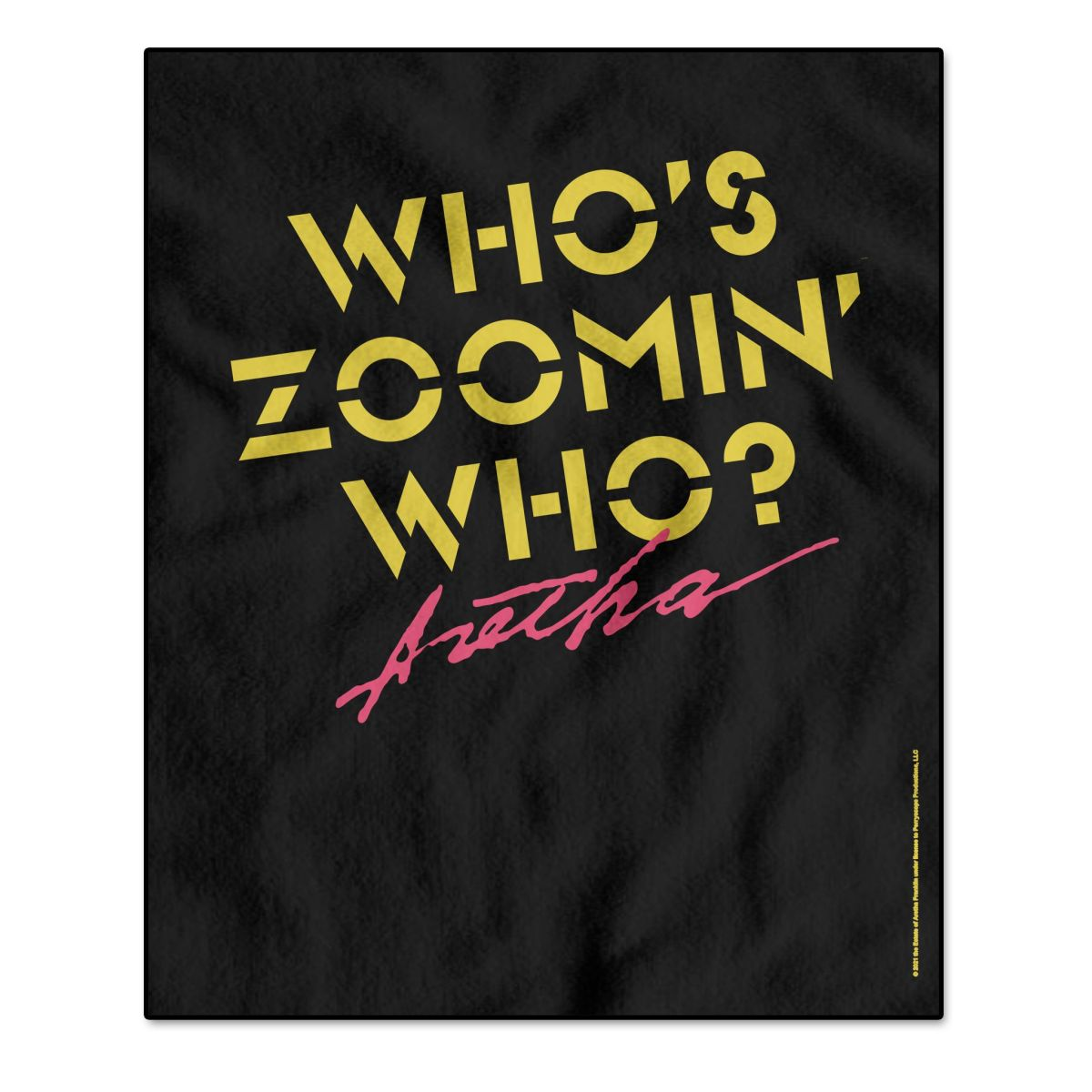 Aretha Franklin Who's Zoomin Who Title Throw Blanket