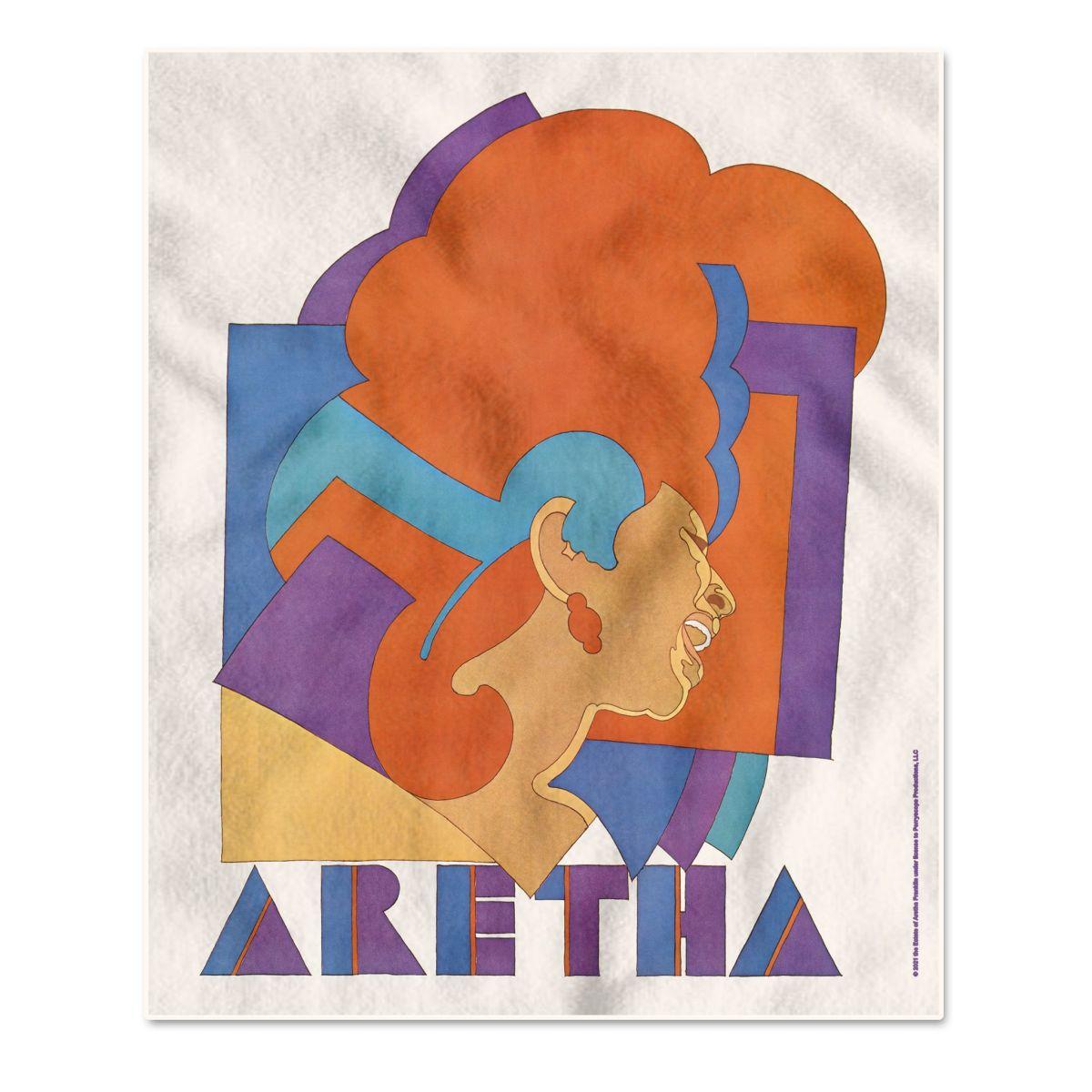 Aretha Franklin Milton Glaser Throw Blanket