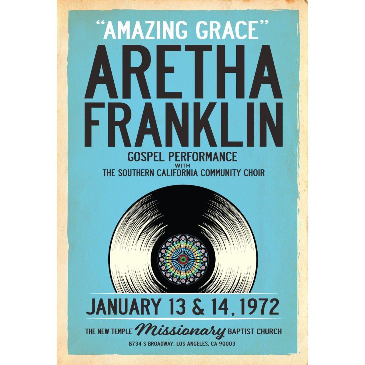 Aretha Franklin Amazing Grace Print