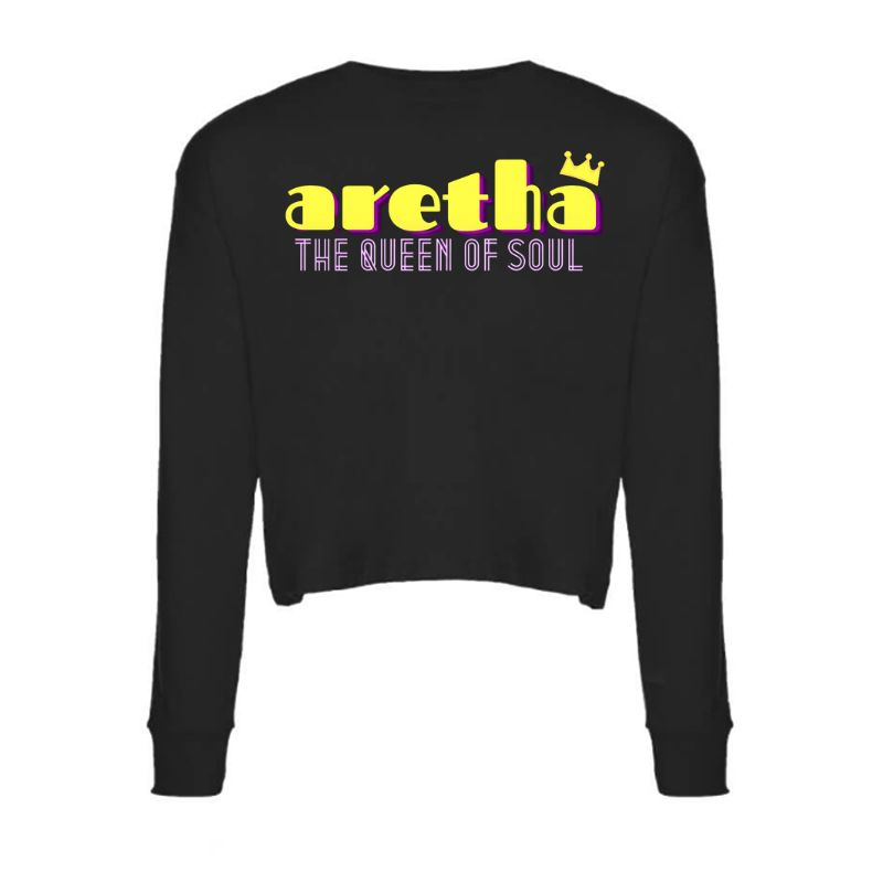 Queen Of Soul A Crown Long Sleeve Crop Top