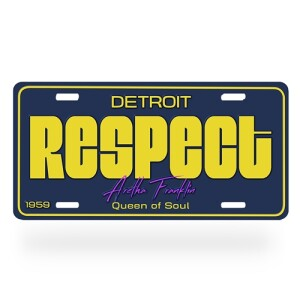 "Aretha Franklin ""Respect"" License Plate"