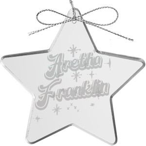 Starry Star Laser-Etched Glass Ornament