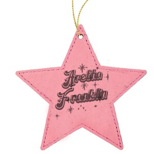 Starry Star Leatherette Ornament