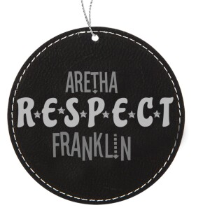Stereo Respect Round Leatherette Ornament