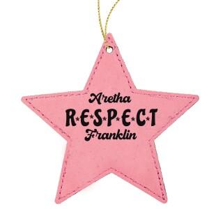 Respect Star Leatherette Ornament