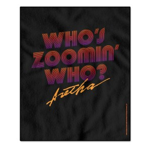 Aretha Franklin Who's Zoomin Who Title Multicolor Throw Blanket