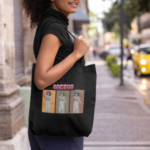 Aretha Cover Tryptic Tote Bag