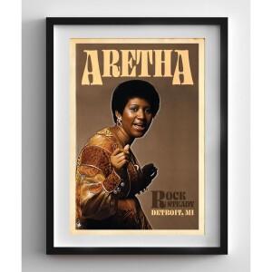 Aretha Franklin Rock Steady Print