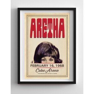 Aretha Franklin Cobo Arena Print