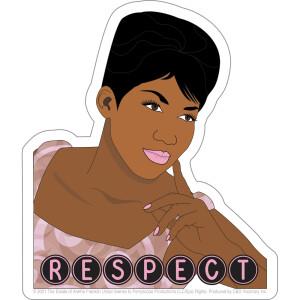 "Aretha Franklin Respect 4.25""x5"" Sticker"