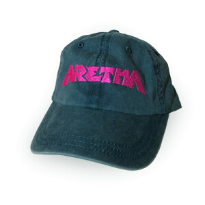 """ARETHA FRANKLIN """"ARETHA"""" UNSTRUCTURED HAT - DEEP TEAL"""