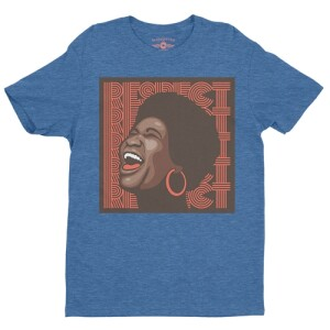 Aretha Respect Hoops T-Shirt - Lightweight Vintage Style