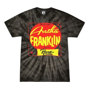 The Aretha Franklin Revue Tie-Dye T-Shirt - Black