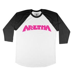 ARETHA FRANKLIN PINK BASEBALL T-SHIRT