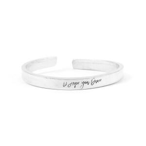 I Hope You Dance Silver Cuff Bracelet