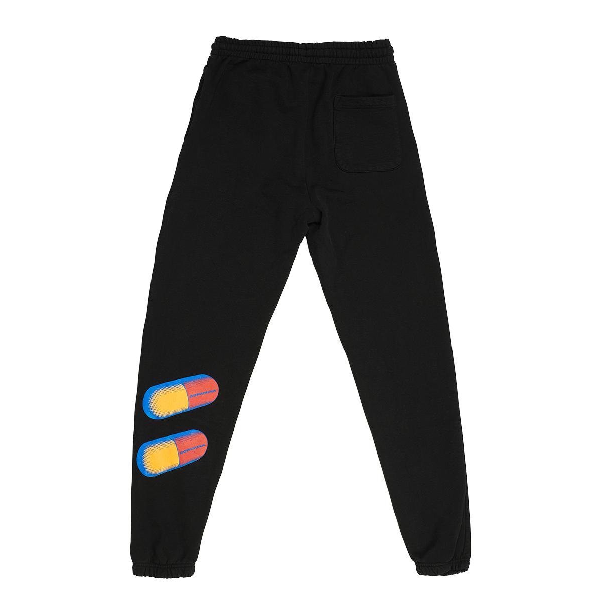 Dopamina Black Hoodie + Sweatpants Set