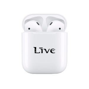 LIVE White Airpods Case