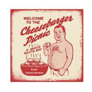 Limited Edition Screen Printed Cheeseburger Picnic Poster