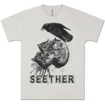 Seether - Crow/Head Silver Tee