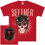 Seether - Ronlewhorn Skull Red T-Shirt