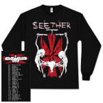 "Seether Long Sleeve ""Triple Threat"" Tour T-Shirt"