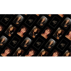 Whitney Houston Faces Wrapping Paper
