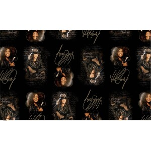 Whitney Houston Sequined Wrapping Paper