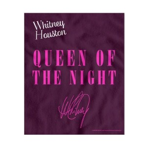 Whitney Houston Queen of the Night Fleece Blanket