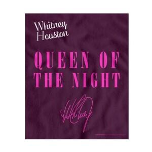 Whitney Houston Queen of the Night Fleece Blanket